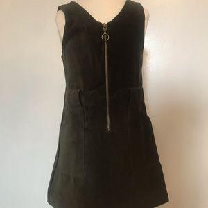 Zara girls /kids NEW  zippered dress, faux velvet